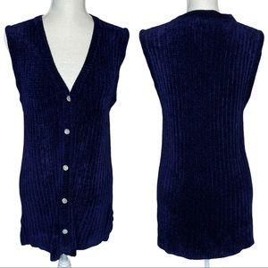 Telluride Clothing Co Knit Button Up V-Neck Vest
